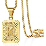 Trendsmax Mens Womens Yellow Gold Plated Square...