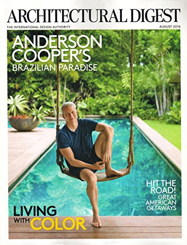 Architectural Digest Magazine August 2016 | Anderson Cooper | Living with Color