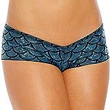 Nihewoo Women's Hipster Panties Seamless Low-Rise Cheekini Panty Soft Stretch Bikini Underwear Light Blue