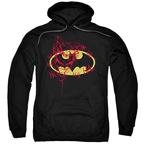 Batman DC Comics Joker Graffitis the Bat Logo Adult Pull-Over Hoodie ()
