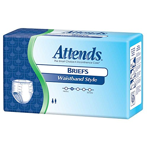 [Attends Maximum Briefs - Diaper Style, with Waistband, Size Large, Full case of 72 Briefs (532-7069)] (Attends Briefs Large Waistband)