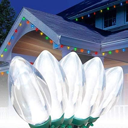 Holiday Time Ultra Bright Led C9 Christmas Lights Cool White 25 Count