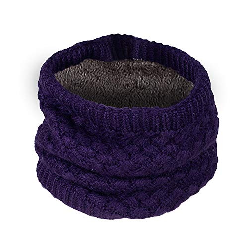 Clearance Lovers Scarf DEATU Winter Solid Gradient Warm Knit Double Ring Scarf Shawl Hot Sale(b-Purple,47cm/18.5) -