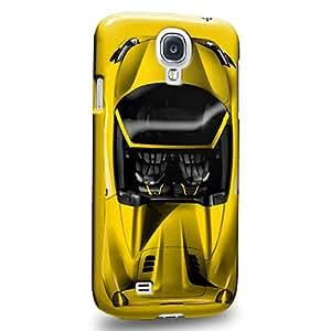 Case88 Premium Designs Art Collections Hand Drawing Sport Car Yellow Carcasa/Funda dura para el Samsung Galaxy S4