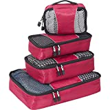 eBags Packing Cubes - 4pc Small/Med Set (Raspberry)