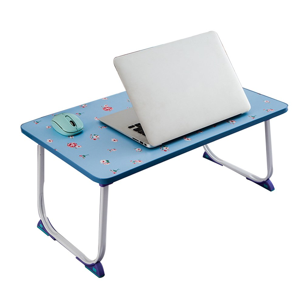 PENGFEI Foldable Laptop Stand for Desk Portable Bed Table Hospital Breakfast Tray College Students Dorm Room Learn Read, 4 Colors (Color : B, Size : 58x34x26CM)