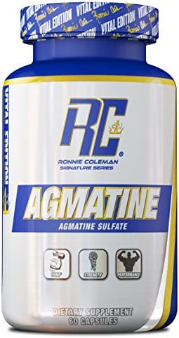 Ronnie Coleman Signature Series Agmatine Nitric Oxide Booster Pre Workout Pump, 60 Count