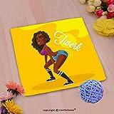 VROSELV Custom Cotton Microfiber Ultra Soft Hand Towel-twerk dance black woman vector flat illustration Custom pattern of household products(14''x14'')