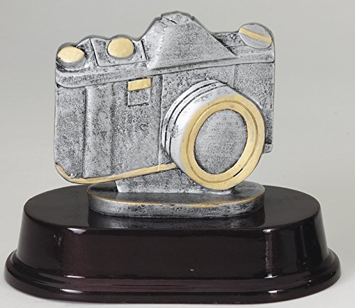 Etch Workz Customize Heavy Resin Casting Award- RFS210SG Series Camera Resin Trophy - 3D Action - Engraved & Personalized - Action Resin Trophy