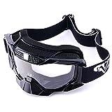 MotorFansClub Motorcycle Motocross MX Dirt Bike Off Road Riding Racing Helmet Goggles(Black)