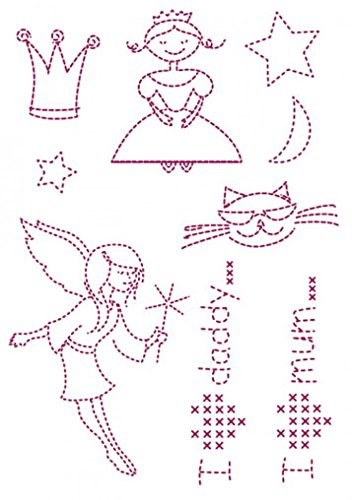 DMC Custom By Me Embroidery Transfer Magic Sheet Girls (Dmc Transfer Embroidery)