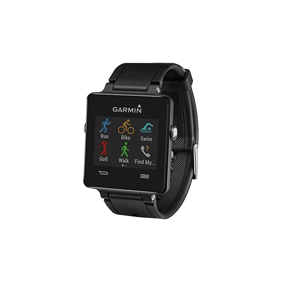 Garmin Vivoactive Smartwatch Bundle Black w/Replacement White Strap