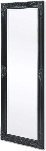Tidyard Wall Mirror Baroque Style 55.1Inches x19.7 Inches Black for Entryway, Bedroom Bathroom Mirror