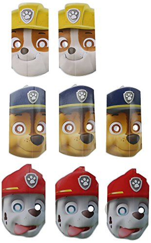 PAW Patrol Paper Masks (8) (Holiday Theme Party Costume)
