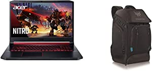 Acer Nitro 5 Gaming Laptop, 9th Gen Intel Core i7-9750H with Acer Predator Utility Gaming Backpack