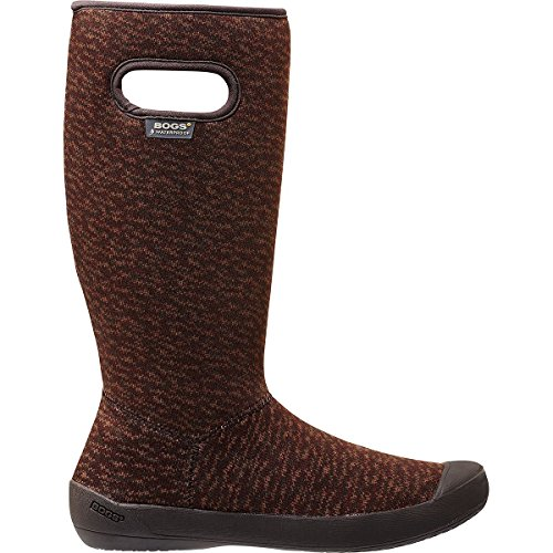 Bogs Women's Summit Knit Waterproof Insulated Boot, Chocolate,8 M US (Boots Waterproof Bogs)