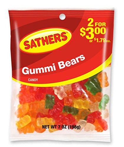 Sathers Gummy Bears Candy, 7 Ounce Bag