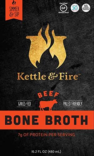 Kettle and Fire - Caldo del hueso de la carne de vaca - 17,6 oz.