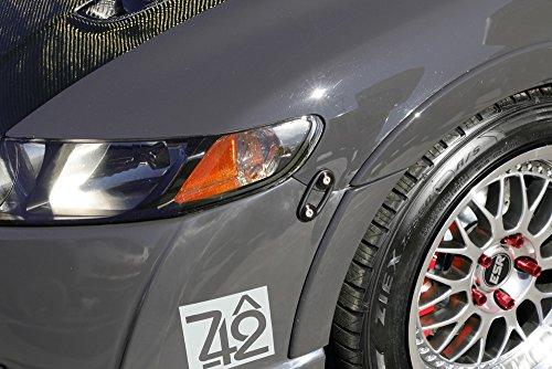 ijdmtoy black finish jdm quick release fasteners  car bumpers trunk fender hatch lids kit