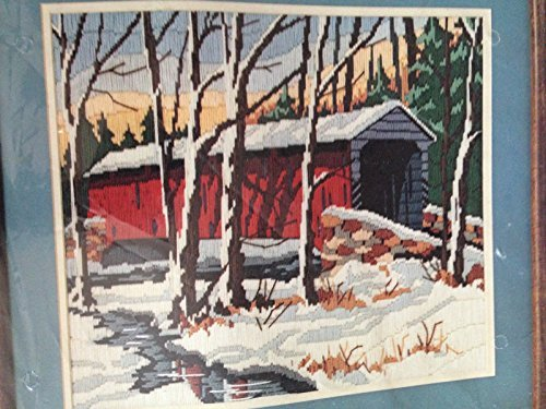 - Snowy Bridge Longstitch Needlepoint # 2247 16