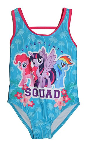 My Little Pony Little Girls One Piece Swimsuit, Turquoise 5/6