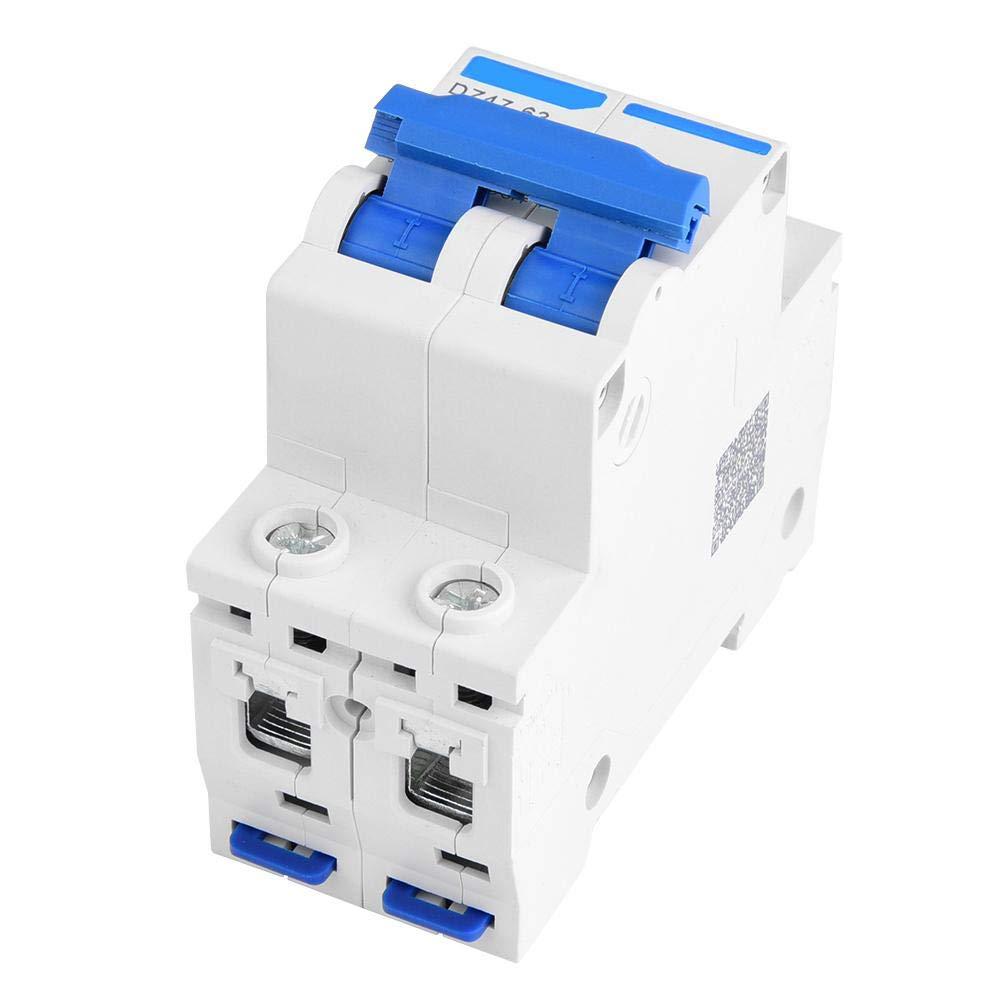 25A DZ47-63 Interruptor de aire de protecci/ón contra fugas de interruptor de circuito en miniatura 2P 400V AC