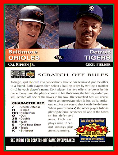 - 1994 Collector's Choice Team vs. Team #13 Cal Ripken Jr. HOF BALTIMORE ORIOLES Cecil Fielder TIGERS