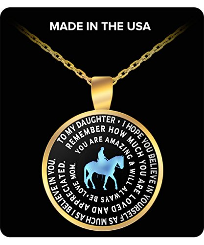 Horse Necklace For Daughter From Mom   Inspirational Charm Pendant   Great Gift From Mother