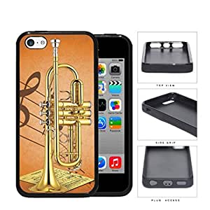 Trumpet With Musical Notes And Characters Rubber Silicone TPU Cell Phone Case Apple iPhone 5c by runtopwell