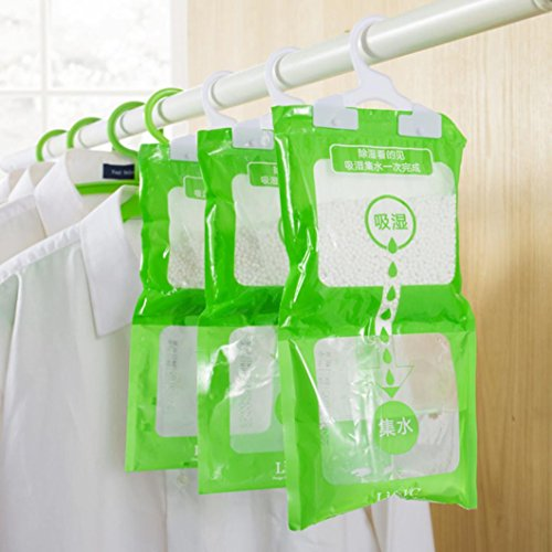 (Cyber Monday Hot Sale!Compia 190g Interior Dehumidifier Desiccant Damp Storage Hanging Bags Wardrobe)