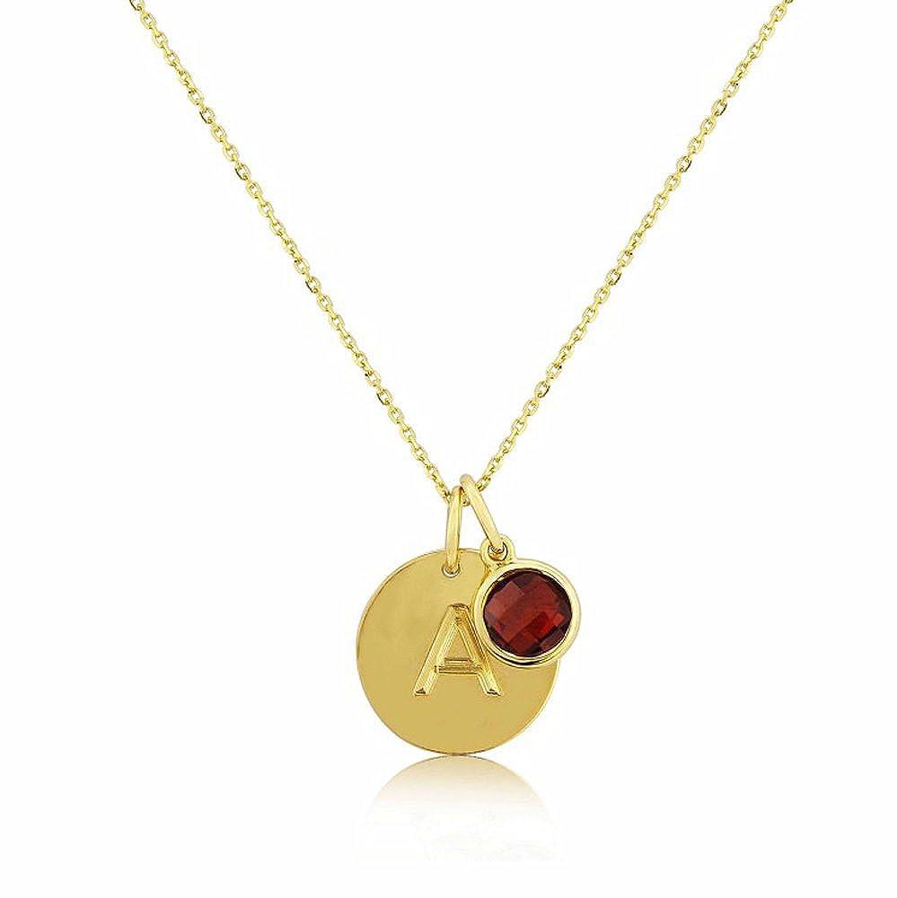 Nathis January Birthstone Necklace Garnet