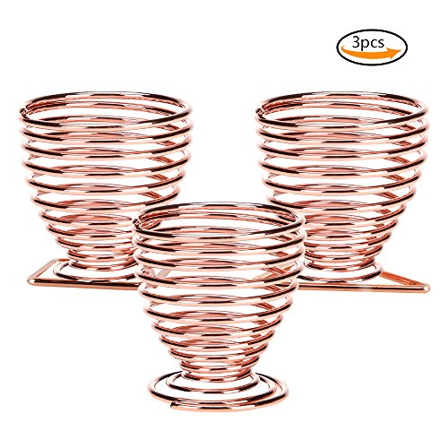 Beauty Blender Holders, Teenitor 3 Pack Makeup Sponge Holder Beauty Sponge Holder Drying Rack Egg Powder Puff Display Stand - Rose Gold
