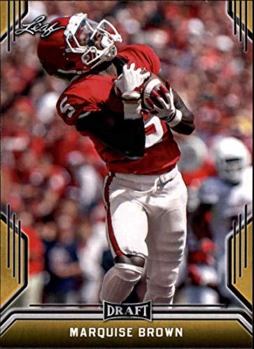 2019 Leaf Draft Gold #52 Marquise Brown (RC - Rookie Card)(NFL Football Draft Pick) NFL Football Card/None - Football Rookie Nfl Brown