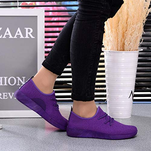 Shoes Shoe Women Shoes Purple Color Mouth Flying Woven Buy Shoes Shoes Shallow HEHEM Student Breathable Candy Formal Women's Running Shoes Shoes Net Bass Comfortable OxOgaqrB