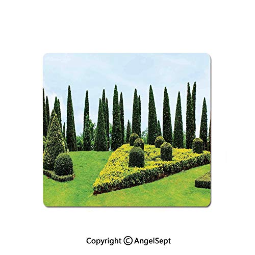 Mouse Pad,Classic Formal Designed Garden with Evergreen Shrubs Boxwood Topiaries,Standard Computer Mouse Pad with Neoprene Backing and Cloth Surface,8.26x10.23 Inch,