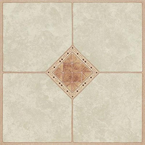 Vinyl Floor Inlays : Mintcraft diamond inlay vinyl floor tile