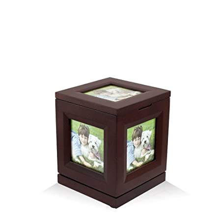 Perfect Memorials Small Photo Cube Rotating Cremation Urn Up to 5 Photos