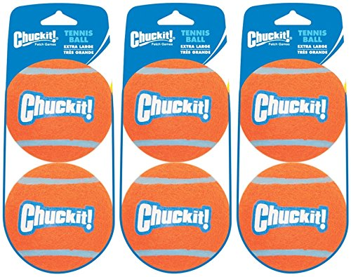 Chuckit! Extra Large Tennis Ball -3 Packs of 2