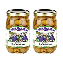 Jake & Amos Pimento Stuffed Olives - (2) 16 Ounce Jars