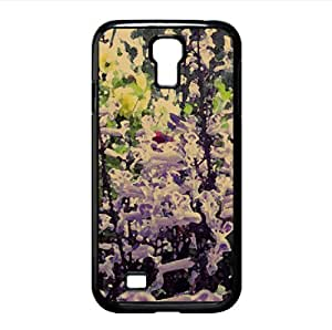 Violet Flowers Watercolor style Cover Samsung Galaxy S4 I9500 Case (Flowers Watercolor style Cover Samsung Galaxy S4 I9500 Case)