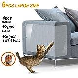 """Cat Scratch Furniture 6Pack X-Large Cat Scratch Deterrent Cat Scratching Guard Pet Couch Protector Cats Furniture Protector Cat Repellent for Furniture Cat Scratching Pads 4×(17"""" L ×12"""" W) + 2×(24"""" L× 8"""" W)"""