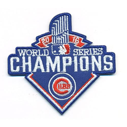 e9334ad18 Chicago Cubs World Champions Logo Baseball MLB Embroidered Iron On Patch  Hat Jersey new