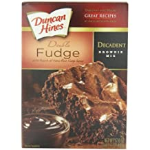 Duncan Hines Decadent Brownie Mix, Double Fudge, 17.6 Ounce (Pack of 6)