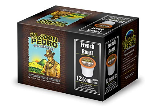Cafe Don Pedro French Roast 72 Count Kcup Low-Acid Coffee (6 packs of 12 ct)
