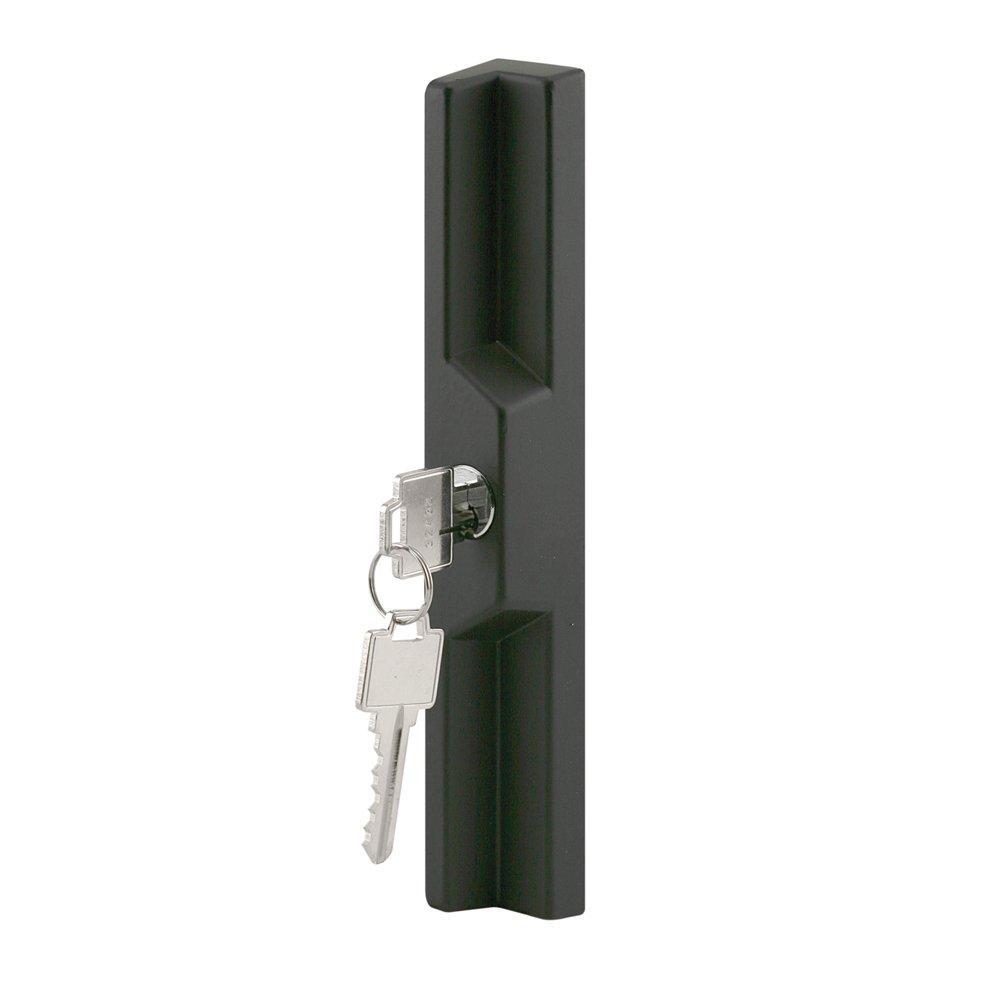 Slide-Co 141237 Sliding Door Outside Pull with Key, Black/Diecast
