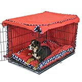 Cardinal & Crest Give a Dog a Bone Crate Cover | Completely Covers Kennels and Wire Crates with Double Access Door Panels (Medium)