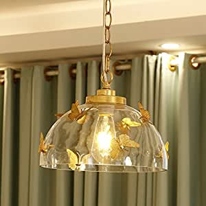 2017 hot sale mordern handmade butterfly glass pendant light for home decoration