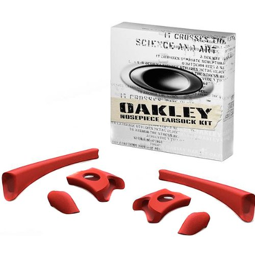 Oakley Flak Jacket Adult Frame Kits Sunglass Accessories - Red / One - Oakley Accessory Kit