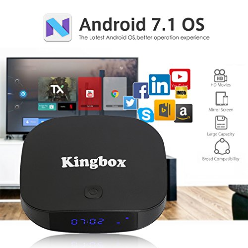 2018 Kingbox Android 7 1 TV Box with Free Wireless Keyboard, K1 Plus  Android Box Support 4K (60Hz) Full HDMI / H 265 / Bluetooth 4 0 / 2 4GHz  WiFi