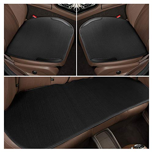 (Automotive Seat Cushions Car seat Cushion Car Seat Cover Three-Piece Good Breathability and Comfort Universal Size Suitable for Most Models Multiple Styles Available (Color : Black))
